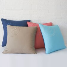 Skipjack Embroidered Cotton Pillow