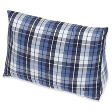 Nautical Plaid Yarn Dyed Wedge Pillow