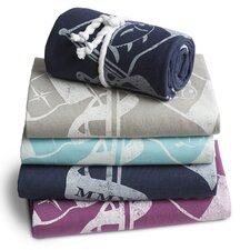 Skipjack Ocean Crest Cotton Throw
