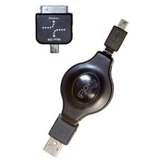 <strong>Digital Treasures</strong> USB I-Flow Retractable Cable