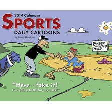 Sports Cartoon A Day Box Calendar