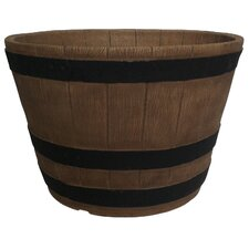 <strong>Planters Online</strong> Whiskey Round Barrel Planter