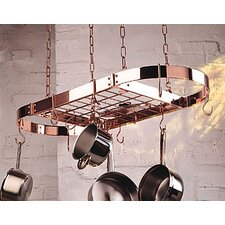 <strong>Rogar</strong> Gourmet Oval Pro Hanging Pot Rack