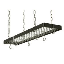 <strong>Rogar</strong> Rectangle Hanging Pot Rack with Grid