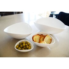 "White Tie Wave 4"" Bowl (Set of 4)"
