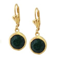 Round Cut Gemstone Drop Earring