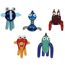 5 Piece TOObz akOOzab, bazOO, cOOda, gadzOOk and mOOshu Figurine Set
