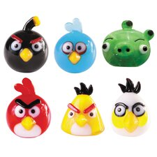 <strong>Looking Glass</strong> 6 Piece Angry Birds Figurine