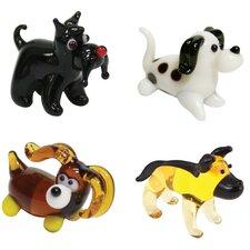 4 Piece Miniature Terrier, Dalmation, CockerSpaniel, Doberman Figurine Set