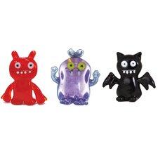 3 Piece Babo, IceBat and Uglydog Figurine