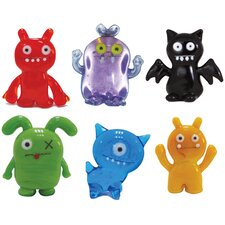 <strong>Ugly Doll</strong> 6 Piece Abima, Babo, IceBat, Ox, Uglydog and Wage Figurine
