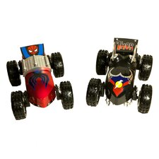 Thor and Spiderman 1/24 Scale Vehicle Set