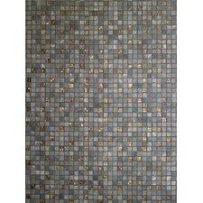 Saran 30 cm x 30 cm Tile in Mosaic Grey (Set of 6)