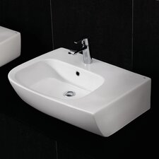 Elena Fire Clay Countertop Basin with 1 Tap Hole