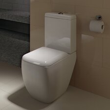 Metropolitan Close Coupled Toilet with Wrap Over Seat