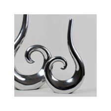 Aluminum Curl Vase (Set of 2)