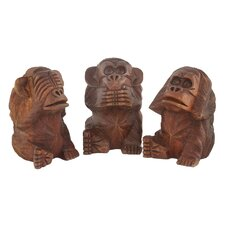 <strong>Modern Day Accents</strong> 3 Piece No Evil Monkeys Figurine Set
