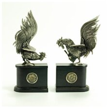 Rooster Book Ends (Set of 2)