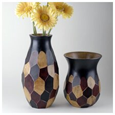 <strong>Modern Day Accents</strong> 2 Piece Faceted Vase Set