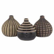 3 Piece Onion Vase Set