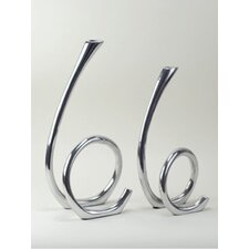 <strong>Modern Day Accents</strong> Aluminum Candlesticks (Set of 2)