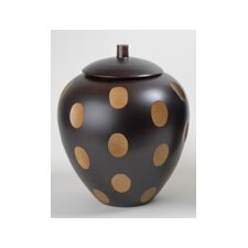 Wood 2-Tone Jar with Lid