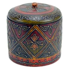 Painted / Embossed Round Covered Box