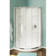 <strong>A&E Bath and Shower</strong> Nevada Neo-Round Corner Shower Set