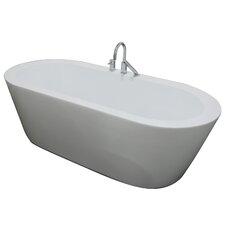 "<strong>A&E Bath and Shower</strong> Una 71"" x 34"" Freestanding Bathtub"