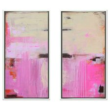 Modern Living Sweet Emotion Diptych 2 Piece Framed Painting Print Set