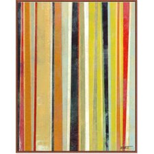 Modern Living 'Joyous Stripes I' Framed Painting Print on Canvas