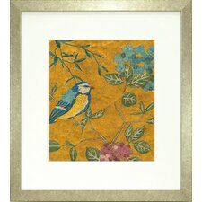 <strong>Indigo Avenue</strong> Floral Living Golden Chinoiserie II Framed Wall Art