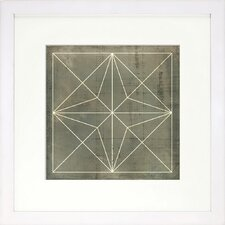 <strong>Indigo Avenue</strong> Modern Living Geometric Blueprint 1 Fine Wall Art