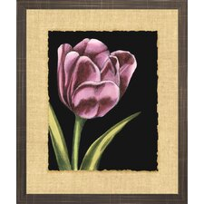 Floral Living Vibrant Tulips III Framed Painting Print