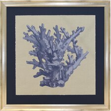 Seaside Living Chambray Coral I Framed Wall Art