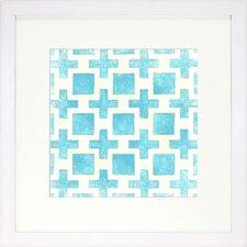 Modern Living Modern Symmetry III Bluebell Framed Graphic Art in Blue