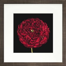<strong>Indigo Avenue</strong> Floral Living Dramatic Bloom III Framed Wall Art