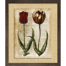 <strong>Indigo Avenue</strong> Floral Living Antiquarian Tulips II Framed Wall Art
