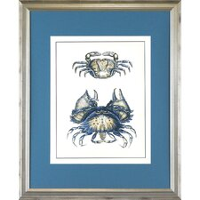 <strong>Indigo Avenue</strong> Seaside Living Crab One Framed Wall Art