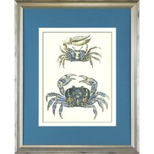<strong>Indigo Avenue</strong> Seaside Living Crab Two Framed Wall Art