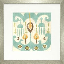 Fresh Traditions Living 'Serene Ikat I' Framed Painting Print