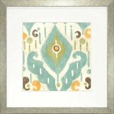 Fresh Traditions Living 'Serene Ikat II' Framed Painting Print