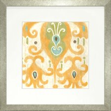 Fresh Traditions Living 'Serene Ikat IV' Framed Painting Print