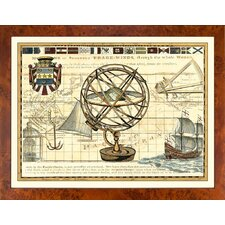 Fresh Traditions Living 'Nautical Map I' Framed Painting Print