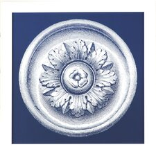 Fresh Traditions Living 'Classic Blue Medallion I' Framed Painting Print