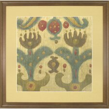 Fresh Traditions Living 'Antique Ikat 2' Framed Painting Print