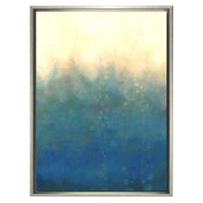 Modern Living Sea and Sky II Framed Painting Print in Silver