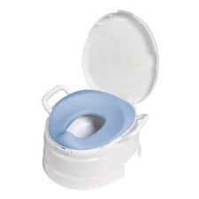 4 in 1 Soft Seat Toilet Trainer and Step Stool in White
