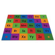 Row by Row Alphabet Kids Rug