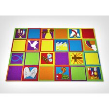 Christian Squares Sunday School Kids Rug